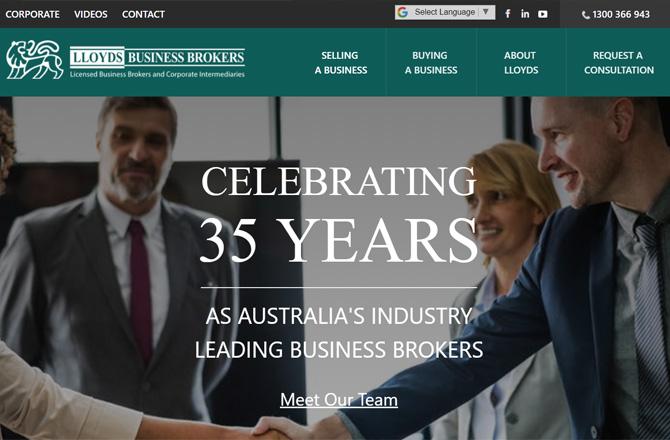 Lloyds brokers website screenshot