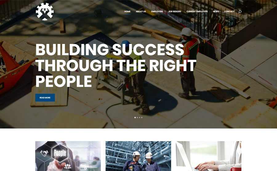 WordPress Website built for Workforce Solutions