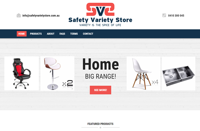Safety variety store screenshot